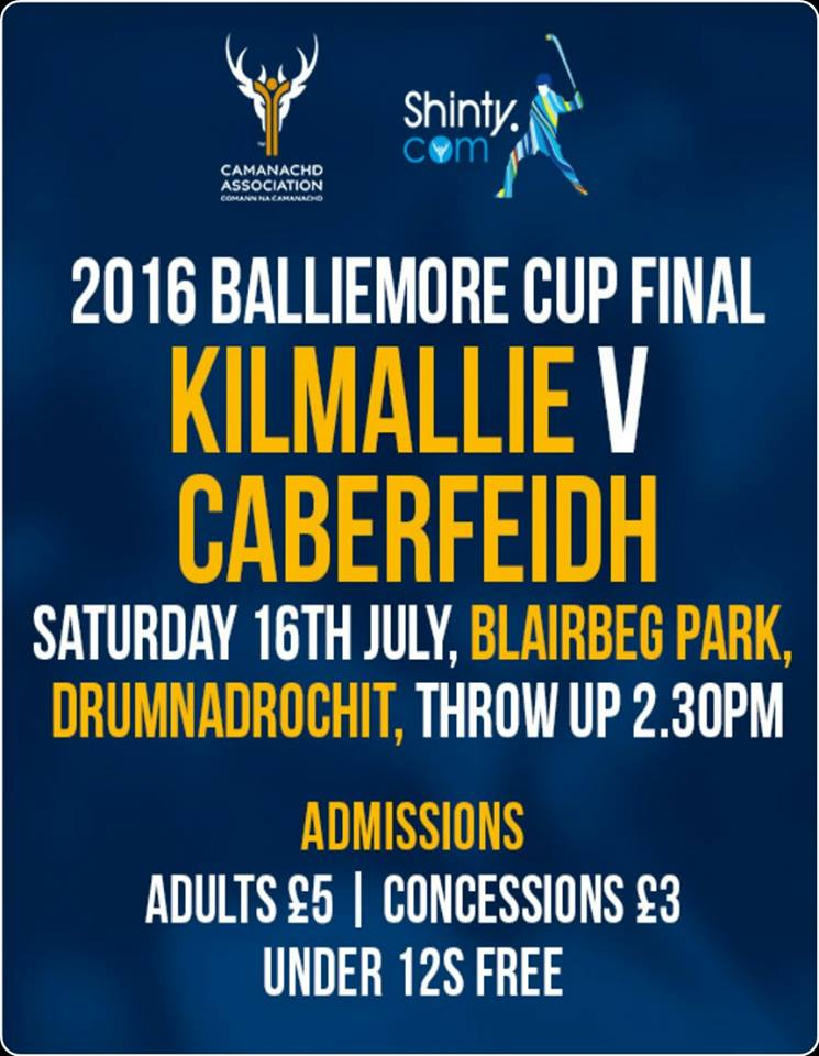 2016 Balliemore Cup Final ............. 1 Day To Go!